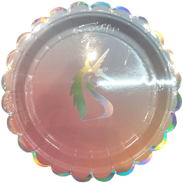 Феникс-Презент Тарелки Феникс-Презент Единорог, 18 см, 6 шт. феникс презент тарелки феникс презент белые с разноцветными кружочками 18 см 6 шт