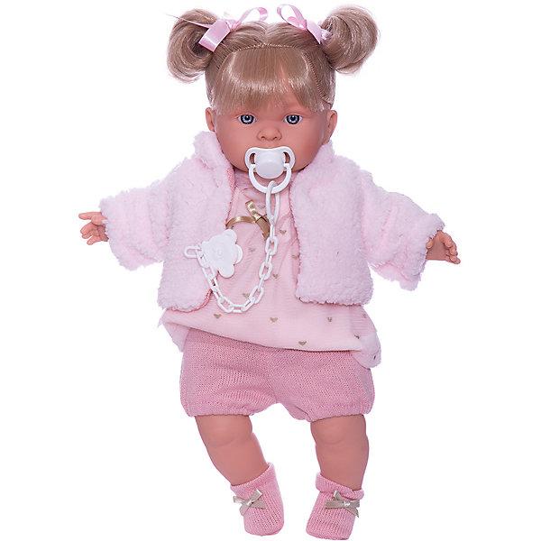 Купить Кукла Llorens Александра 42 см, со звуком, Испания, розовый, Женский