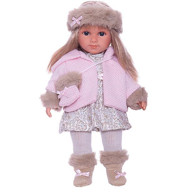 Llorens Кукла Llorens Елена в бело-розовом, 35 см куклы и одежда для кукол llorens кукла валерия азиатка 28 см l 28022