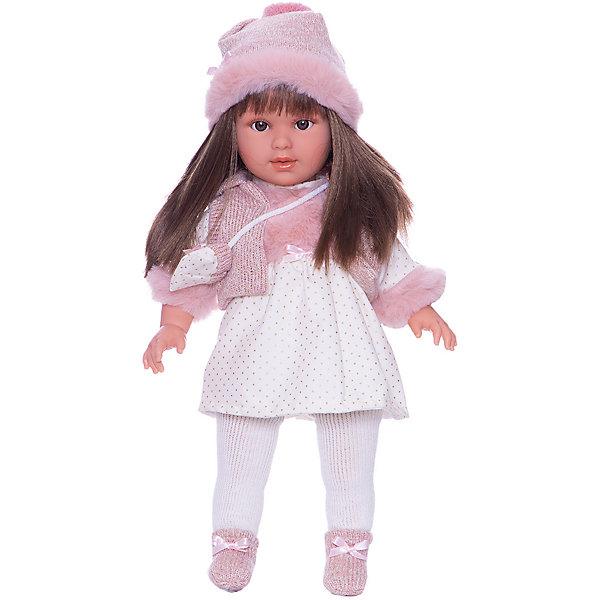 Llorens Кукла Llorens Мартина в бело-розовом, 40 см куклы и одежда для кукол llorens кукла валерия азиатка 28 см l 28022