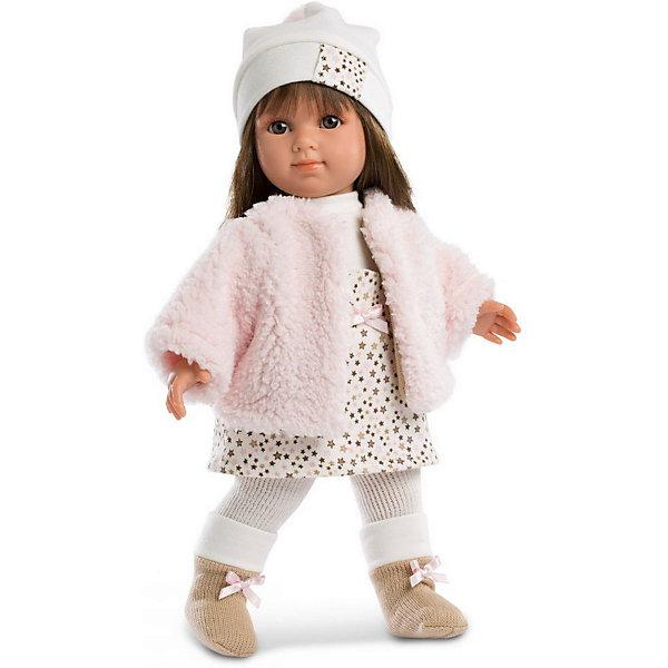 Llorens Кукла Елена в бело-бежевом, 35 см