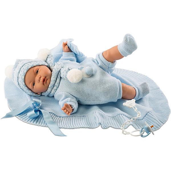 Купить Кукла-пупс Llorens Жоель в голубом 38 см, со звуком, Испания, синий, Женский
