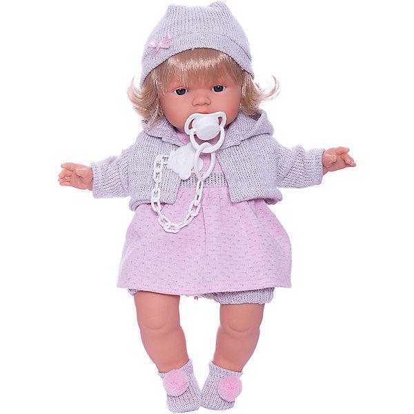 Llorens Кукла Llorens Лола в розово-сером 38 см, со звуком кукла лола 38 см со звуком