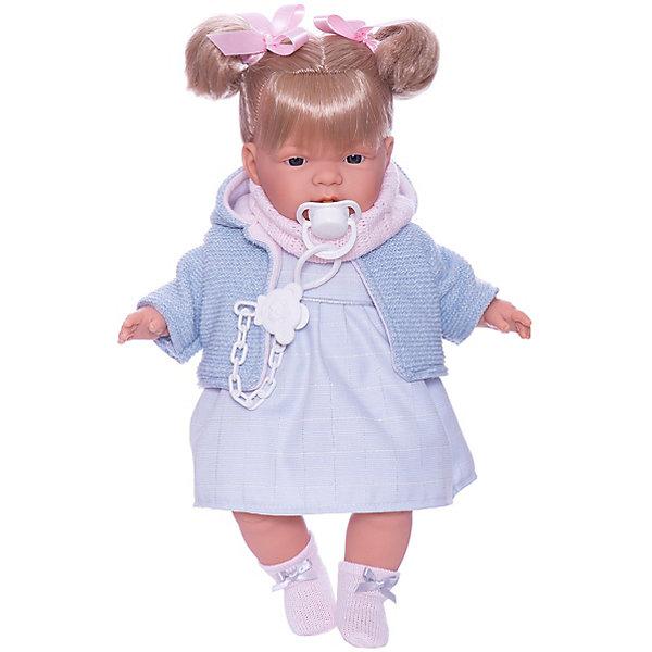 Llorens Кукла Жоэлле в голубом 38 см, со звуком