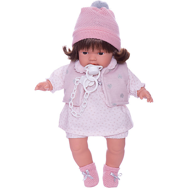 Llorens Кукла Лола в бело-розовом 38 см, со звуком