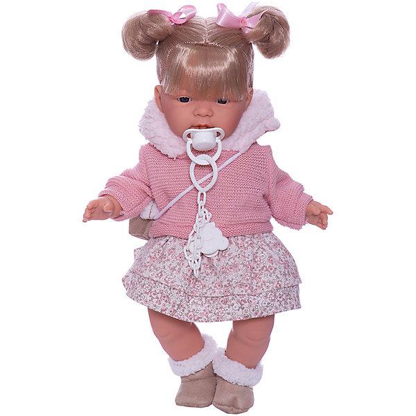 Llorens Кукла Жоэлле в розовом 38 см, со звуком