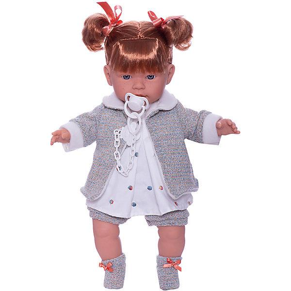 Купить Кукла Llorens Амелия 42 см, со звуком, Испания, серый, Женский