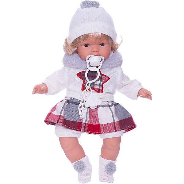 Купить Кукла Llorens Лола в бело-красном 38 см, со звуком, Испания, красный/белый, Женский