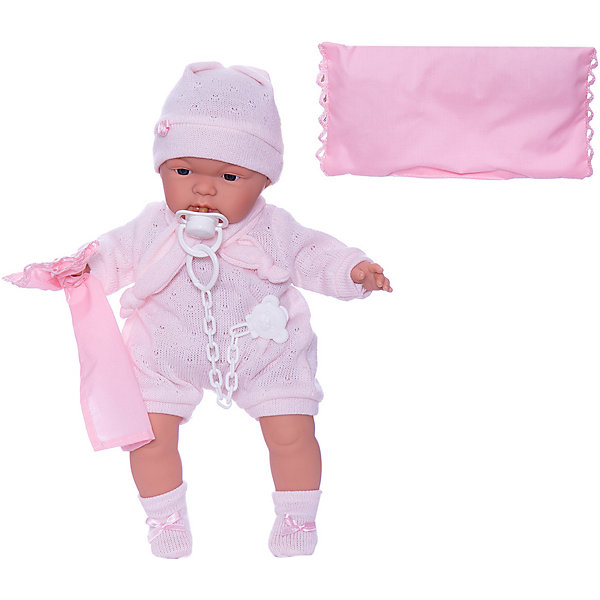 Llorens Кукла-пупс Llorens Жоель в розовом 38 см, со звуком цена