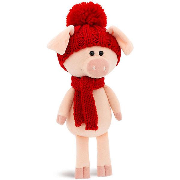 Orange Мягкая игрушка Хрюня, 20 см, в красной шапочке