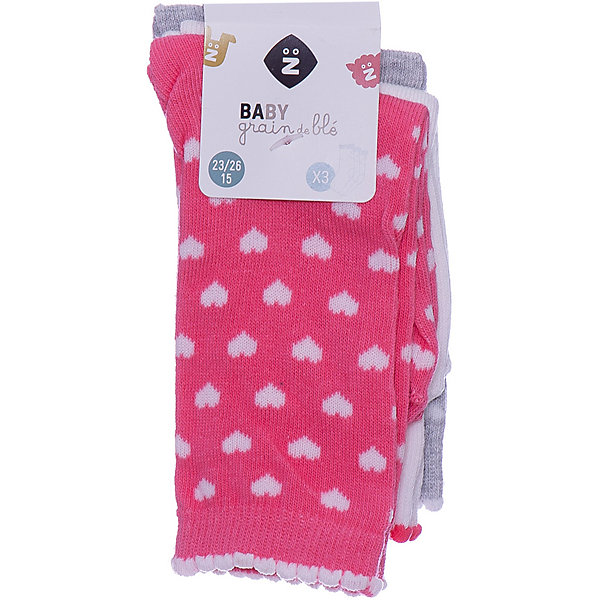 Z Носки, 3 пары Z для девочки колготки носки гетры playtoday носки для девочки 3 пары лучшие друзья 178090