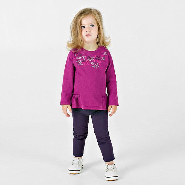 Купить Комплект: футболка с длинным рукавом, леггинсы Bossa Nova для девочки, Россия, розовый, 92, 86, 80, 74, 98, Женский