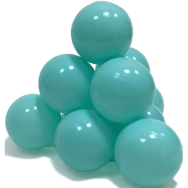 Hotenok Шарики для сухого бассейна Hotenok 50 шт, 7 см, мятные шарики для сухого бассейна pilsan шарики для сухого бассейна 100 штук 9 см пакете сумке