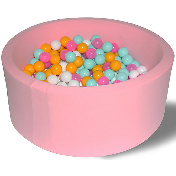 Сухой бассейн Hotenok Розовый цветок 40 см, 200 шариковСухие бассейны<br>Характеристики товара:<br><br>• возраст: от 1 года;<br>• материал: хлопок, поролон, пластик;<br>• в комплекте: бассейн, 200 шаров;<br>• высота бассейна: 40 см;<br>• диаметр бассейна: 100 см;<br>• диаметр шара: 7 см;<br>• размер упаковки: 78х36х62 см;<br>• вес упаковки: 6 кг. <br><br>Сухой игровой бассейн с 200 шарами станет отличным игровым местом для малышей. Бортики бассейна выполнены из мягкого материала, поэтому ребенок не сможет травмироваться. Они защищают его от случайного выпадения из бассейна. Бассейн выполнен из качественных гипоаллергенных материалов.<br>Чехол снимается. Его можно стирать в режиме деликатной стирки при температуре 40 градусов.