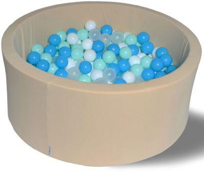 Сухой игровой бассейн Hotenok  Ванильный берег  40 см, 200 шариков, артикул:9633744 - Детская площадка