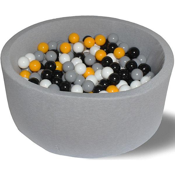 Сухой игровой бассейн Hotenok Жёлтая роза 30 см, 200 шариковСухие бассейны<br>Характеристики товара:<br><br>• возраст: от 1 года;<br>• материал: хлопок, поролон, пластик;<br>• в комплекте: бассейн, 200 шаров;<br>• высота бассейна: 33 см;<br>• диаметр бассейна: 80 см;<br>• диаметр шара: 7 см;<br>• размер упаковки: 78х36х62 см;<br>• вес упаковки: 6 кг.<br><br>Сухой игровой бассейн с 200 шарами станет отличным игровым местом для малышей. Бортики бассейна выполнены из мягкого материала, поэтому ребенок не сможет травмироваться. Они защищают его от случайного выпадения из бассейна. Шарики для бассейна уже входят в комплект. Они имеют оптимальный диаметр в 7 см, который исключает проглатывание. Бассейн выполнен из качественных гипоаллергенных материалов.<br>Чехол снимается. Его можно стирать в режиме деликатной стирки при температуре 40 градусов.