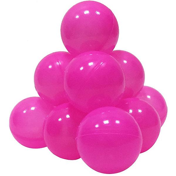 Hotenok Шарики для сухого бассейна Hotenok 50 шт, 7 см, розовые шарики для сухого бассейна pilsan шарики для сухого бассейна 100 штук 9 см пакете сумке