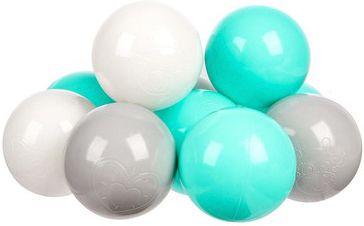 Комплект шариков для сухого бассейна Hotenok  Мятный бриз  100 шт, 3 цвета, артикул:9633760 - Детская площадка