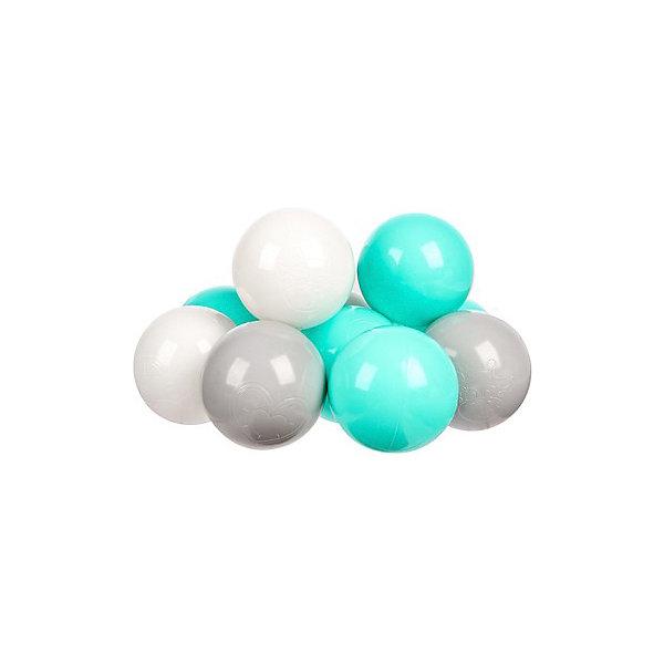 Hotenok Комплект шариков для сухого бассейна Hotenok Мятный бриз 100 шт, 3 цвета сухие бассейны sportswill шарики для сухого бассейна 100 шт