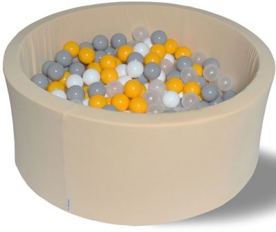 Сухой игровой бассейн Hotenok  Жемчужные лучики  40 см, 200 шариков, артикул:9633768 - Детская площадка