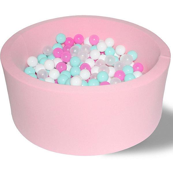 Hotenok Сухой игровой бассейн Hotenok Розовая мечта 40 см, 200 шариков бассейн сухой hotnok розовый цветок 200 шариков розовый белый желтый мятный sbh 015