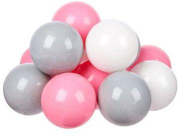 Комплект шариков для сухого бассейна Hotenok  Розовый бриз  100 шт, 3 цвета, артикул:9633778 - Детская площадка
