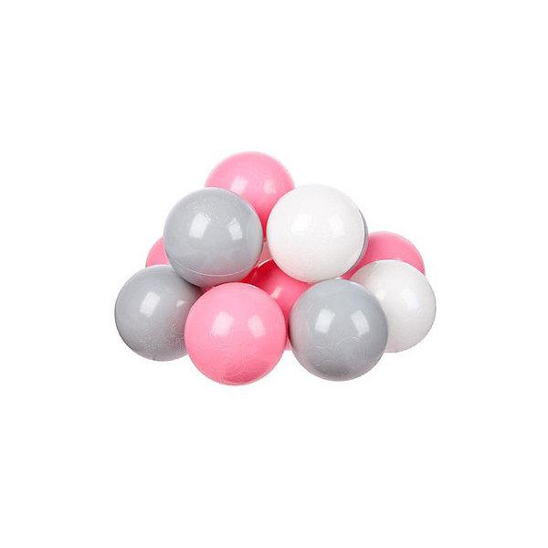 Купить Комплект шариков для сухого бассейна Hotenok Розовый бриз 100 шт, 3 цвета, Россия, разноцветный, Унисекс