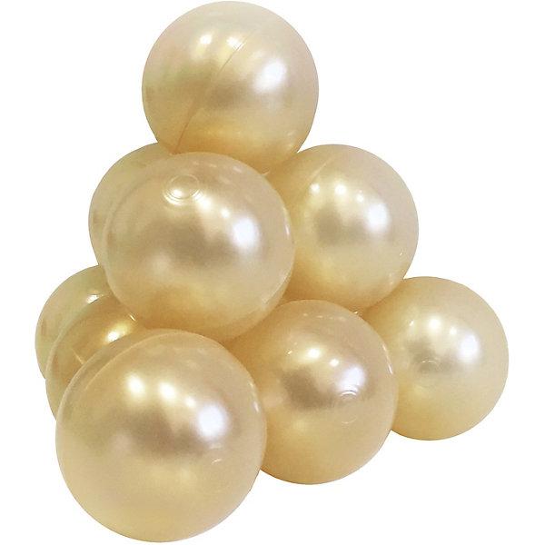 Hotenok Шарики для сухого бассейна Hotenok 50 шт, 7 см, золотые шарики для сухого бассейна pilsan шарики для сухого бассейна 100 штук 9 см пакете сумке