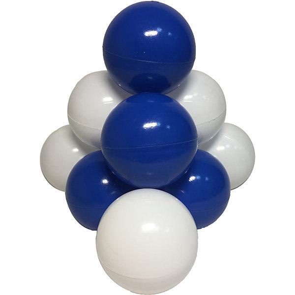 Hotenok Комплект шариков для сухого бассейна Hotenok Морские пузыри 50 шт, синие и белые intex набор пластиковых шариков для сухого бассейна диаметр 6 5 см 100 шт