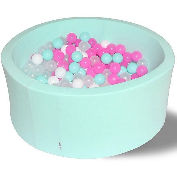 Hotenok Сухой игровой бассейн Hotenok Клубничное мороженое 40 см, 200 шариков бассейн сухой hotnok розовый цветок 200 шариков розовый белый желтый мятный sbh 015