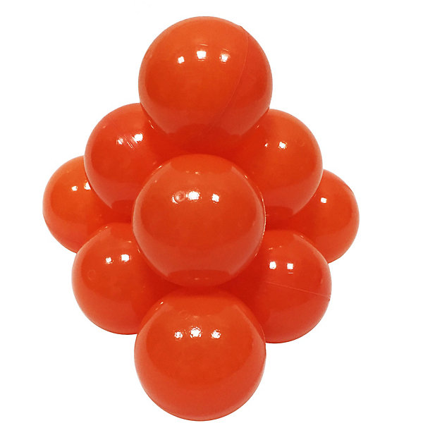 Hotenok Шарики для сухого бассейна Hotenok 50 шт, 7 см, оранжевые шарики для сухого бассейна pilsan шарики для сухого бассейна 100 штук 9 см пакете сумке