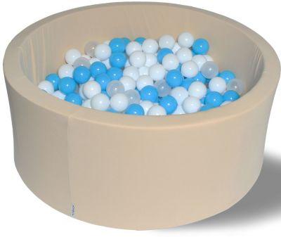 Сухой игровой бассейн Hotenok  Ванильные облака  40 см, 200 шариков, артикул:9633816 - Детская площадка