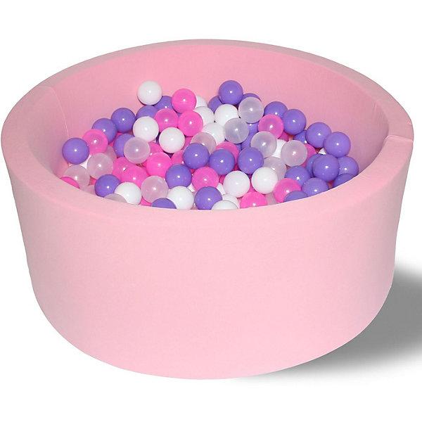 Hotenok Сухой игровой бассейн Hotenok Фиолетовые пузыри 40 см, 200 шариков бассейн сухой hotnok розовый цветок 200 шариков розовый белый желтый мятный sbh 015