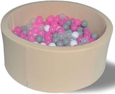 Сухой игровой бассейн Hotenok  Розовый жемчуг  40 см, 200 шариков, артикул:9633840 - Детская площадка