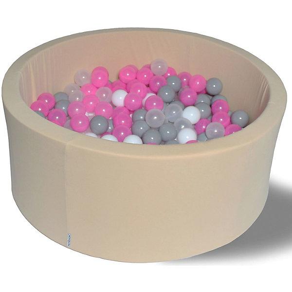 Сухой бассейн Hotenok Розовый жемчуг 40 см, 200 шариковСухие бассейны<br>Характеристики товара:<br><br>• возраст: от 1 года;<br>• материал: хлопок, поролон, пластик;<br>• в комплекте: бассейн, 200 шаров;<br>• высота бассейна: 30 см;<br>• диаметр бассейна: 100 см;<br>• диаметр шара: 7 см;<br>• размер упаковки: 78х36х62 см;<br>• вес упаковки: 6 кг. <br><br>Сухой игровой бассейн с 200 шарами станет отличным игровым местом для малышей. Бортики бассейна выполнены из мягкого материала, поэтому ребенок не сможет травмироваться. Они защищают его от случайного выпадения из бассейна. Шарики для бассейна уже входят в комплект. Они имеют оптимальный диаметр в 7 см, который исключает проглатывание. Бассейн выполнен из качественных гипоаллергенных материалов.<br>Чехол снимается. Его можно стирать в режиме деликатной стирки при температуре 40 градусов.