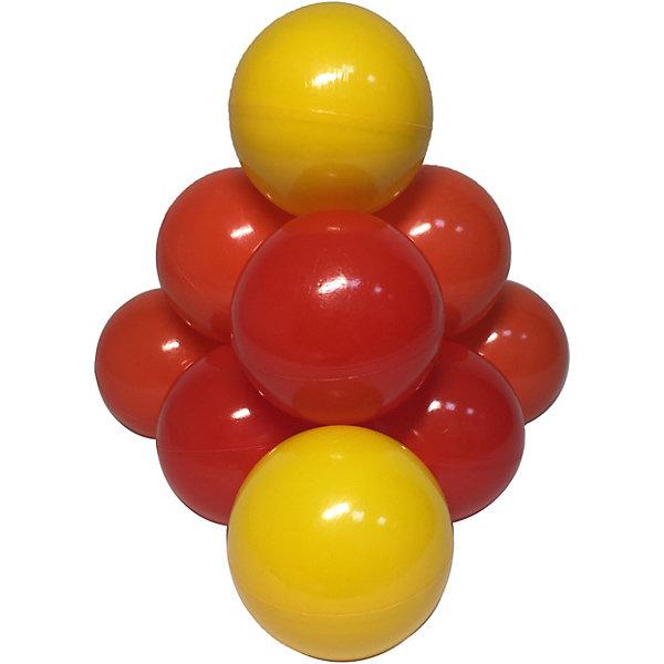 Hotenok Комплект шариков для сухого бассейна Hotenok Солнечный 100 шт, 3 цвета intex набор пластиковых шариков для сухого бассейна диаметр 6 5 см 100 шт