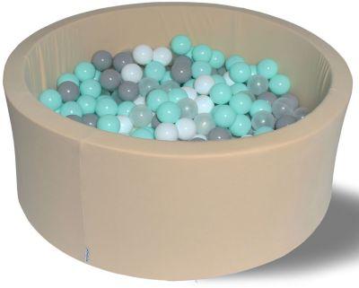 Сухой игровой бассейн Hotenok  Жемчужный берег  40 см, 200 шариков, артикул:9633852 - Детская площадка