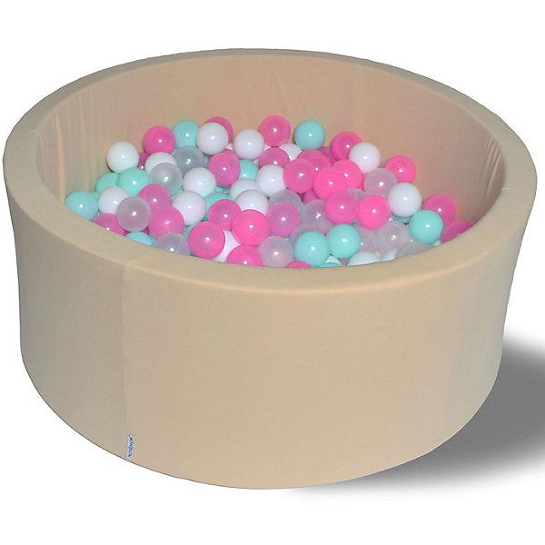 Hotenok Сухой бассейн Ванильное мороженое 40 см, 200 шариков