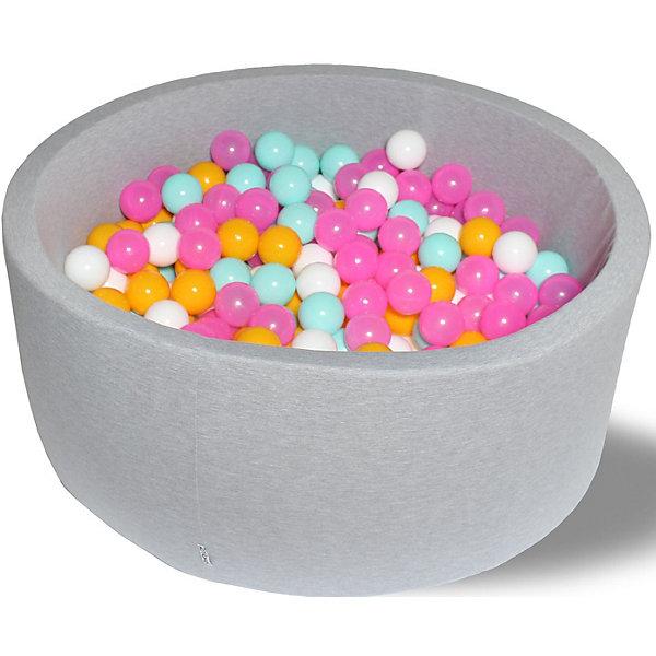 Hotenok Сухой игровой бассейн Hotenok Радужный 40 см, 200 шариков бассейн сухой hotnok розовый цветок 200 шариков розовый белый желтый мятный sbh 015