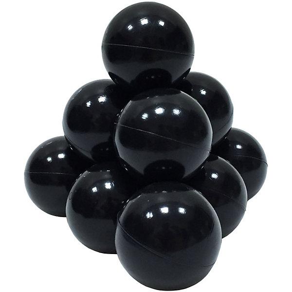 Шарики для сухого бассейна Hotenok 50 шт, 7 см, чёрныеШарики для сухого бассейна<br>Характеристики товара:<br><br>• возраст: от 1 года;<br>• материал: пластик;<br>• в комплекте: 50 шаров;<br>• диаметр шара: 7 см;<br>• размер упаковки: 42х38х12 см;<br>• вес упаковки: 1 кг. <br><br>Шарики предназначеныдля игры в сухом бассейне. Они имеют оптимальный диаметр в 7 см, который исключает проглатывание. Шарики сделаны из гипоаллергенного безопасного пластика.<br>Плотность шарика достаточно высокая. Немного смять шарик можно, но он моментально выпрямится. Продавить его можно весом более 60 кг. Если целенаправленно встать на него, он не лопнет, но потеряет форму на некоторое время и, возможно, полностью не восстановится  – на нем будут волны. Шарик может лопнуть лишь при целенаправленной нагрузке свыше 90 кг.