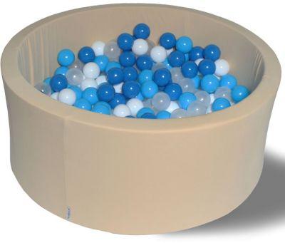 Сухой игровой бассейн Hotenok  Песок и море  40 см, 200 шариков, артикул:9633868 - Детская площадка