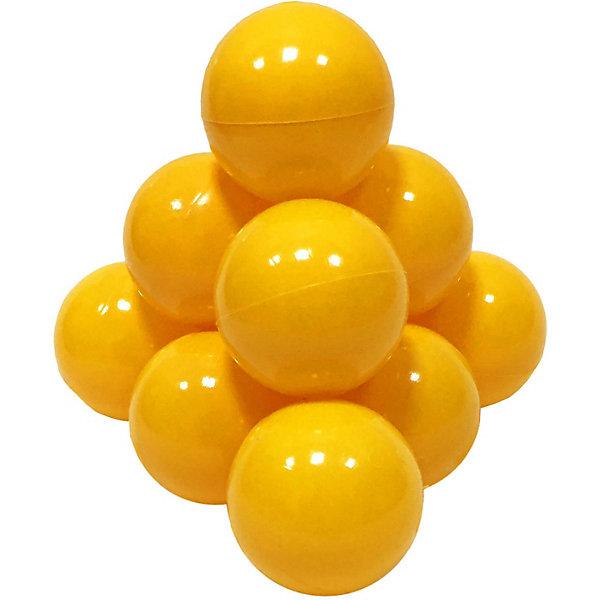 Hotenok Шарики для сухого бассейна Hotenok 50 шт, 7 см, жёлтые сухие бассейны sportswill шарики для сухого бассейна 100 шт