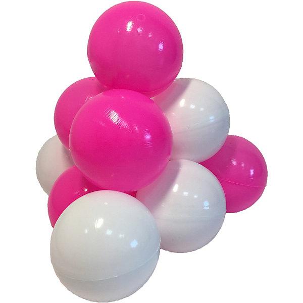 Купить Шарики для сухого бассейна Hotenok Карамелька 50 шт, розовые и белые, Россия, розовый/белый, Унисекс