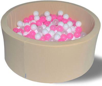 Сухой игровой бассейн Hotenok  Жемчужное сияние  40 см, 200 шариков, артикул:9633878 - Детская площадка