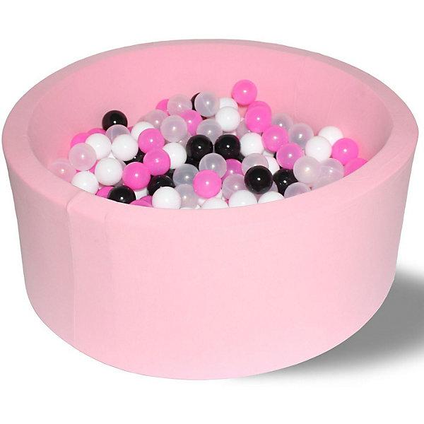 Hotenok Сухой игровой бассейн Hotenok Розовая пантера 40 см, 200 шариков бассейн сухой hotnok розовый цветок 200 шариков розовый белый желтый мятный sbh 015