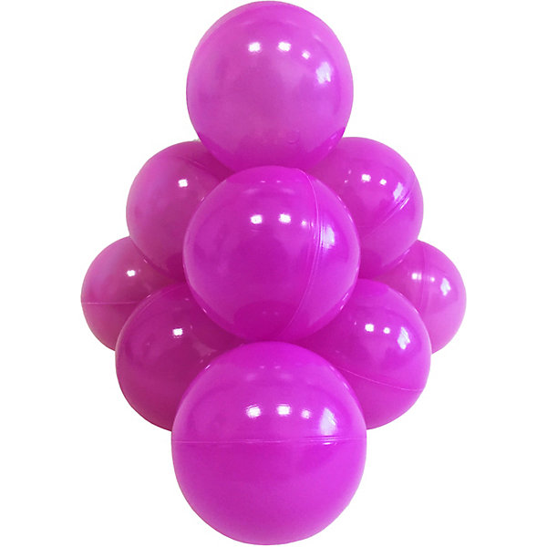 шарики bony 50 шаров Hotenok Шарики для сухого бассейна Hotenok 50 шт, 7 см, фиолетовые