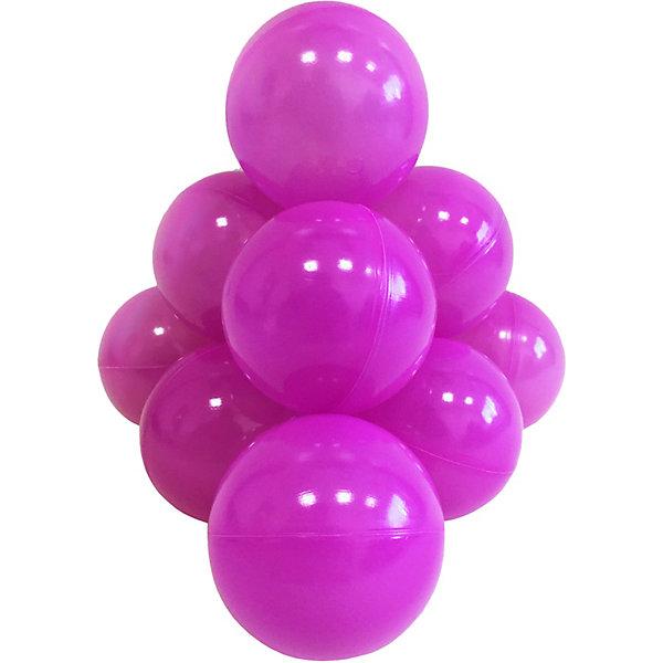 Hotenok Шарики для сухого бассейна Hotenok 50 шт, 7 см, фиолетовые шарики для сухого бассейна pilsan шарики для сухого бассейна 100 штук 9 см пакете сумке