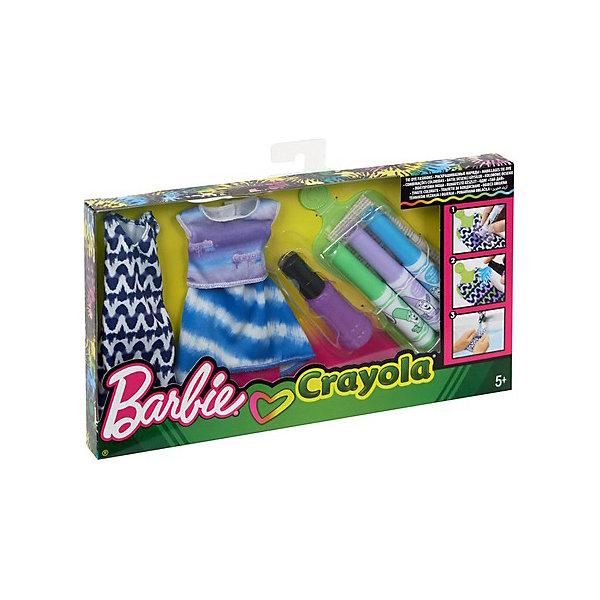 Фото - Mattel Игровой набор Barbie Crayola Сделай моду сам Платье, футболка и юбка mattel игровой набор barbie crayola сделай моду сам платье футболка и юбка