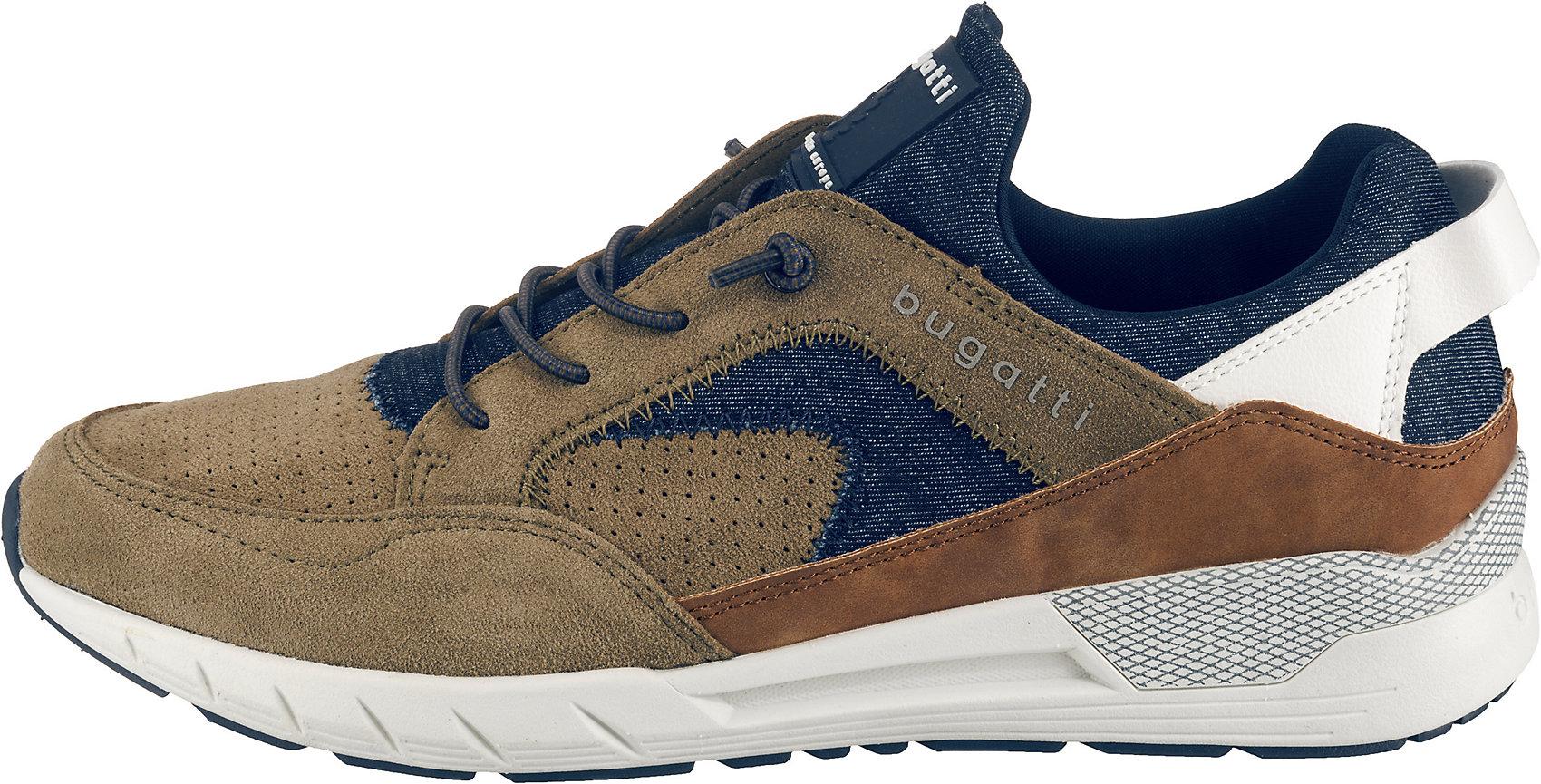 Details zu Neu bugatti Kona Sneakers Low 10410535 für Herren taupe