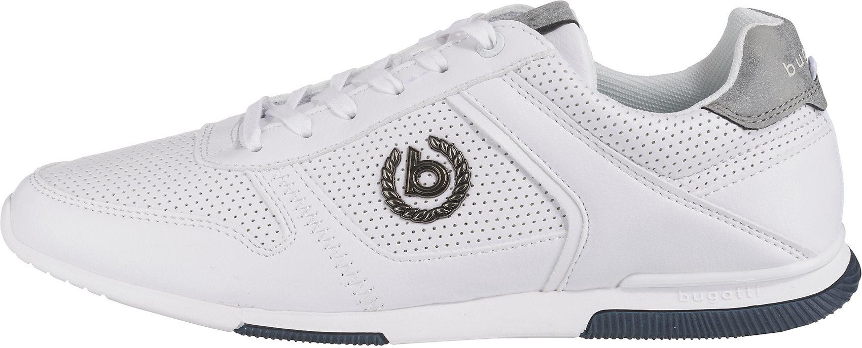 Details zu Neu bugatti REPORT Sneakers Low 10410857 für Herren weiß